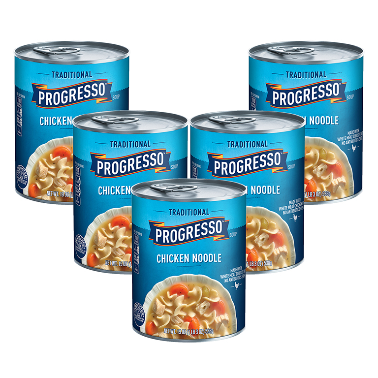 Progresso Traditional Chicken Noodle Soup, 19 oz (5 Packs)