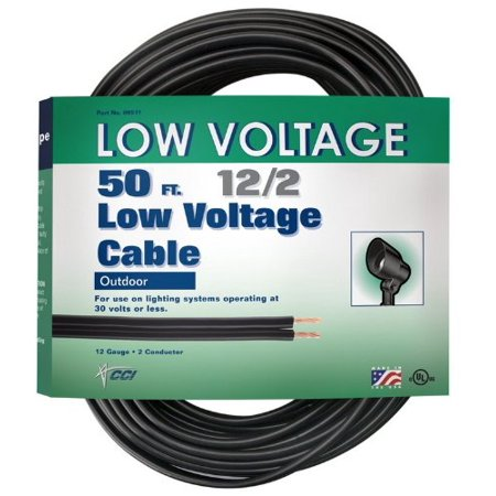 coleman cable 09511 12 2 low voltage cable garden lighting wire. Black Bedroom Furniture Sets. Home Design Ideas