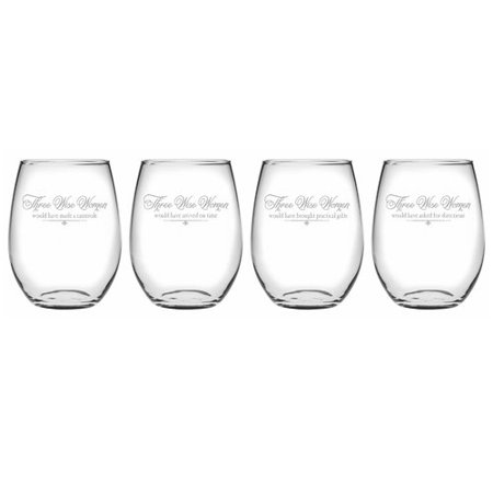 Holiday Glassware - The Holiday Aisle Three Wise Women 4-Piece Assorted Glassware Set (Set of 4)