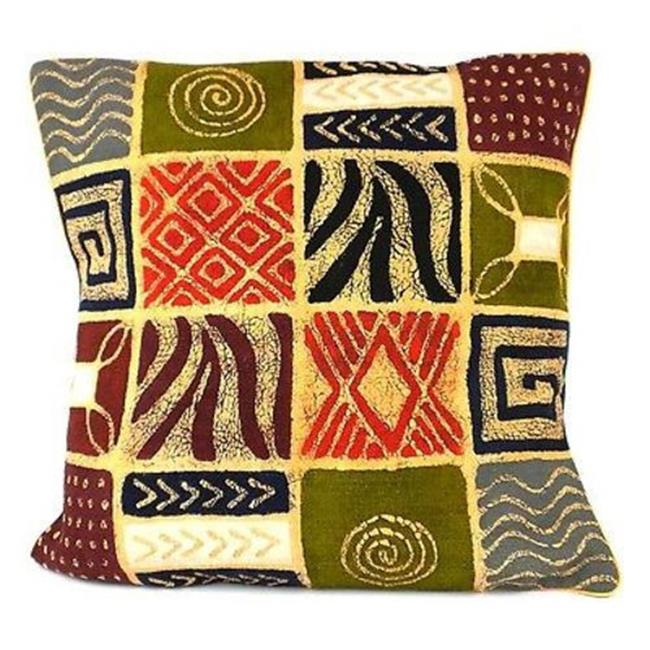 Tonga Textiles Handmade Colorful Patches Batik Cushion Cover