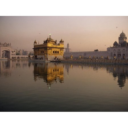 Guru's Bridge over the Pool of Nectar, Leading to the Golden Temple of Amritsar, Punjab, India Print Wall Art By Jeremy -