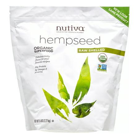 Organic Shelled Hempseed Bulk Nutiva, 80 Oz