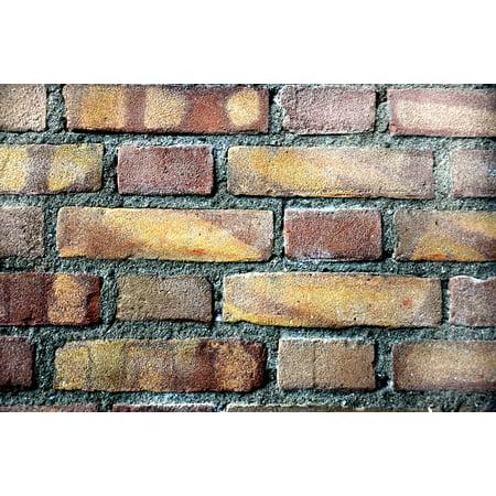 Laminated Poster Pattern Wall Texture Brick Stone Print 24 X 36