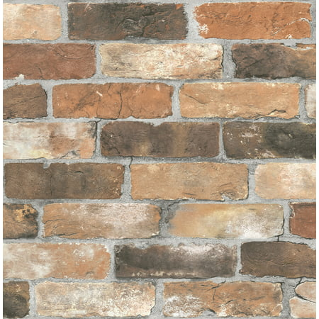 Brewster Cody Rust Reclaimed Bricks Wallpaper