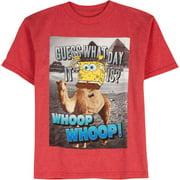 Boys Spongebob Whoop Whoop Short Sleeve Graphic Tee