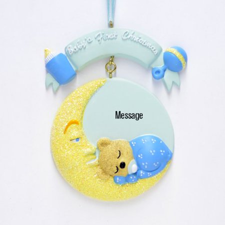 Baby moon blue personalized christmas ornament do it yourself baby moon blue personalized christmas ornament do it yourself solutioingenieria Gallery