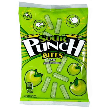 Sour Punch Bites, Sour Apple Soft & Chewy Candy, 5oz