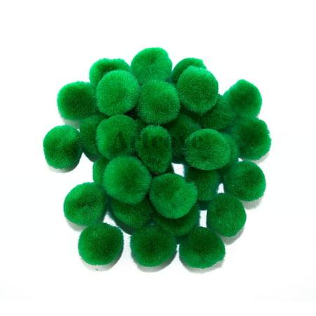 0.5 inch Kelly Green Tiny Craft Pom Poms 100