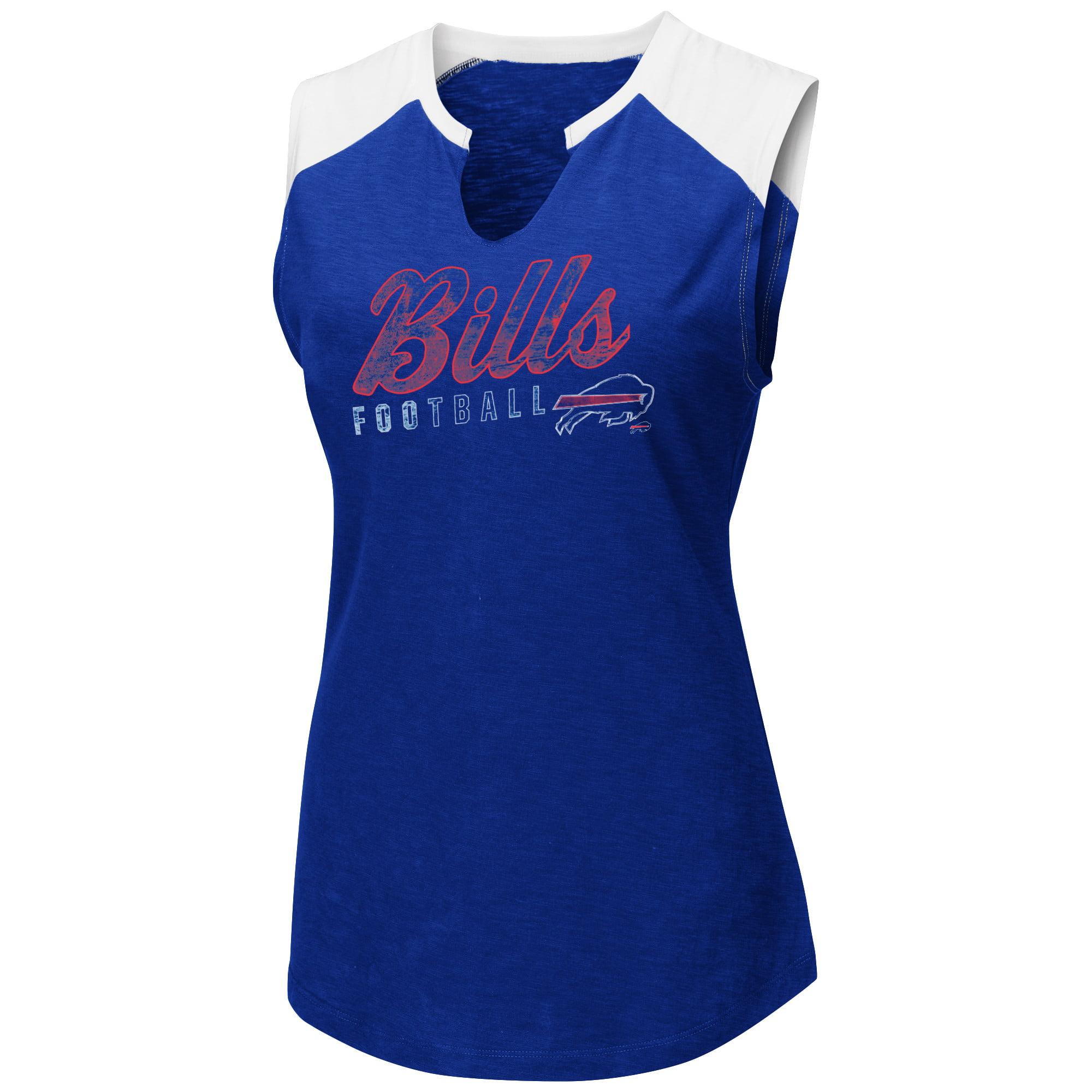 Women's Majestic Royal/White Buffalo Bills V-Notch Muscle Tank Top