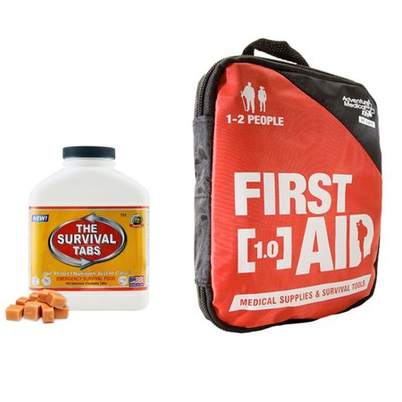 Adventure First Aid 1 0 Constant Treat For Cut Sprains Insect Bites Headaches Muscle Aches  Allergic Reactions  Kit For 1 2 People    15 Days Emergency Food  180 Tabs Butterscotch