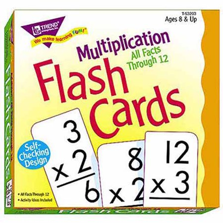 Worksheets Flashcards Of Multiplication trend enterprises multiplication flash cards all facts through 12 12