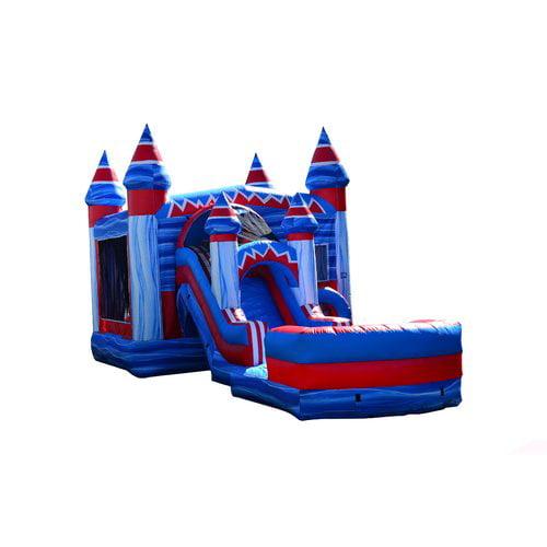 JumpOrange Inflatable Flash Mega Front Loader Slide Bounce House by
