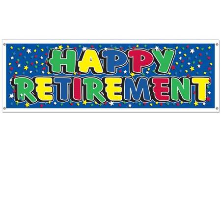 Club Pack of 12 Multi-Colored Retirement Themed