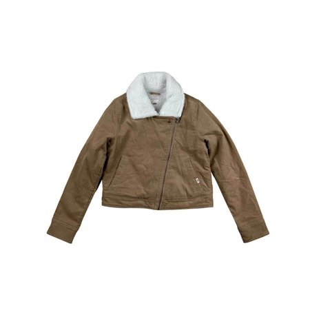 Vans Womens Corduroy Mori Sherpa Jacket Tan/Brown New (M) Sherpa Corduroy Jacket