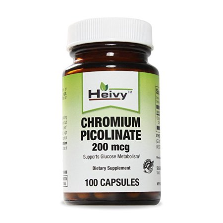 Le picolinate de chrome 200 mcg, 100 Caps