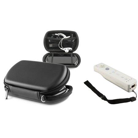 Insten New BLACK Bag Case Pouch for Sony PSP GO + STRAP