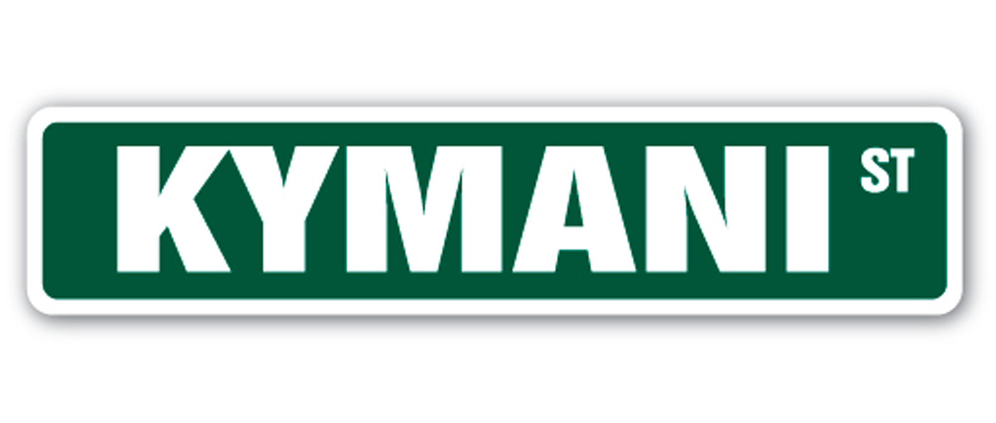 KYMANI Street Sign Childrens Name Room Decal| Indoor ...