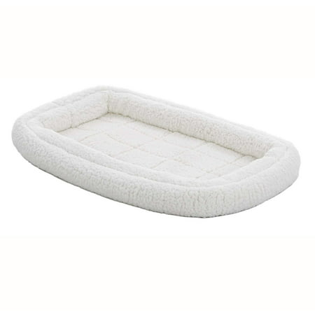 Midwest QuietTime Deluxe Fleece Double Bolster Bed, 22