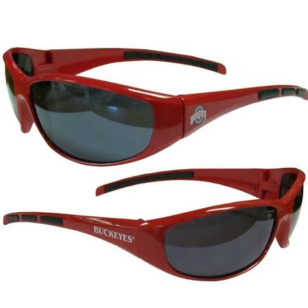NCAA Collegiate Team Logo Sports Wrap Sunglasses - Choose Team! (Ohio State B...