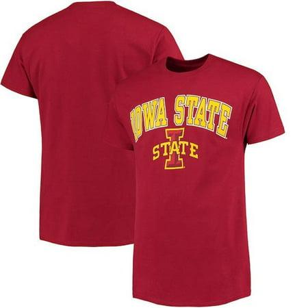 - W Republic Apparel 527-125-339-01 Iowa State University Athletic Tee, Cardinal - Small
