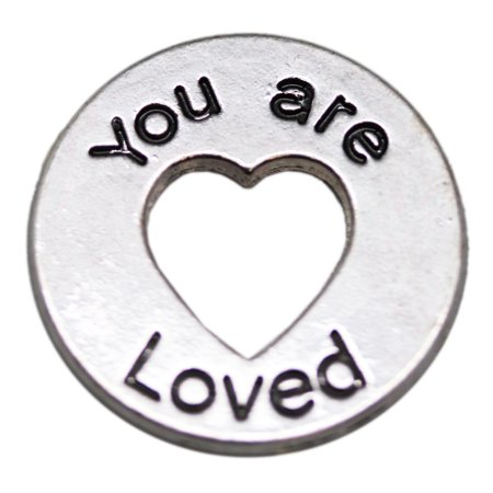 """""""You are Loved"""" Heart Cutout Token Charm - By Ganz"""