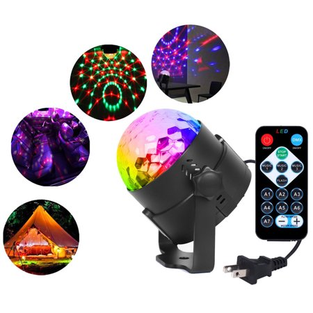 Party Disco Lights DJ Magic Ball Sound Activated Remote LED Crystal Effect Light - Disco Ball Kit