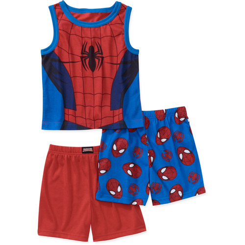Marvel Baby Boys' Spiderman 3 Piece Tank and Shorts Pajama Set