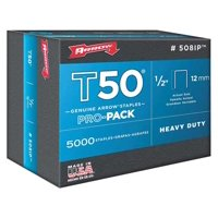 "Arrow 1/2"" T50 Staples, 5000 Pack"