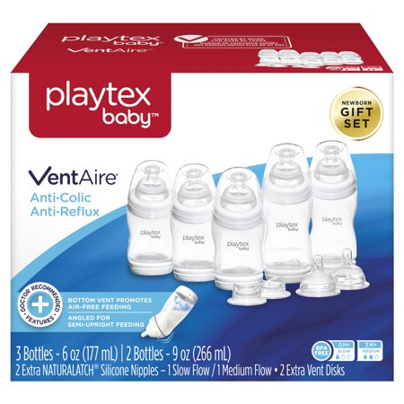 Playtex Baby VentAire Anti-Colic Baby Bottle Newborn Gift Set