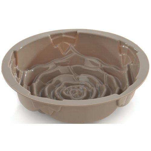 "Click here to buy Berghoff Studio Silicone Rose Cake Mold 9.75 x 9.75 x 3.25"" by BergHOFF International."