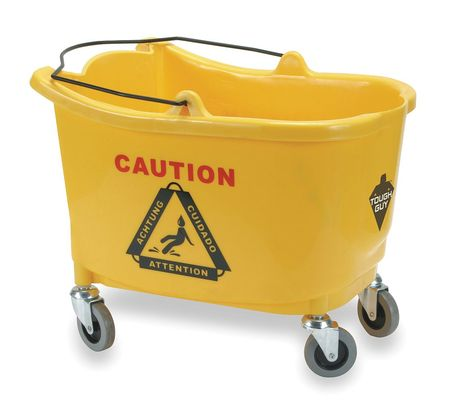 Mop Bucket,8-3/4 gal.,Yellow TOUGH GUY 2PYH6