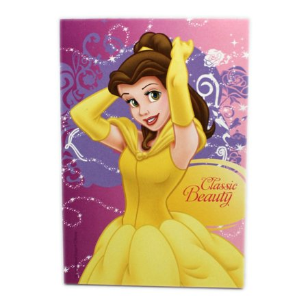 - Disney Princess Belle Classic Beauty Pink/Magenta Cover Kids Notepad