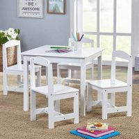 Simple Living Hayden 5-Piece Kids Table and Chairs Set (White)