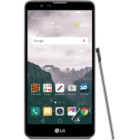 Boost Mobile Phones Walmart >> Boost Mobile Lg Stylo 2 16gb Prepaid Smartphone Gray Walmart Com