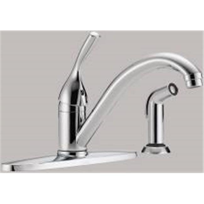 Kitchen Faucets Walmart: Delta Kitchen Faucet Single Handle Lead Free Chrome