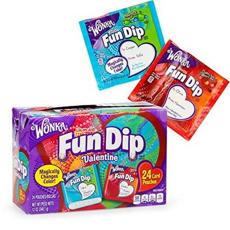 Wonka Lik-m-aid Fun Dip Valentine Card Kits - Valentine's Day and Valentine's Day Candy