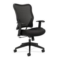HON Wave Mesh High-Back Task Chair, Black (HVL702)