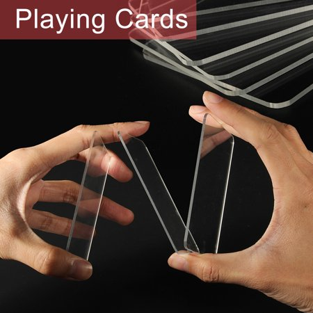 Trainer Deck Clear Playing Cards Creative Acrobatic 9 Laser Close-Up Magic Tricks Acrylic 9cmX6.5cm - image 7 of 7
