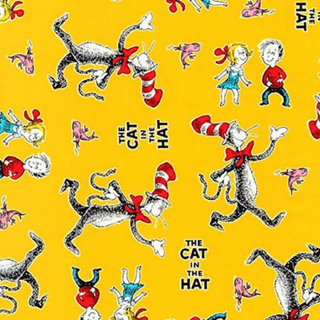 Robert Kaufman Dr Seuss The Cat in the Hat 4 Yellow Characters - Seuss Characters