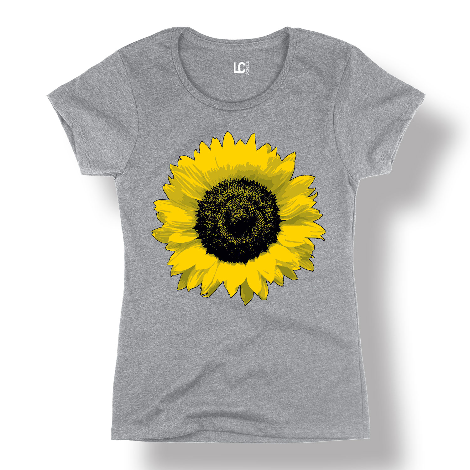 Sunflower, Large-Adult LADIES SHORT SLEEVE TEE