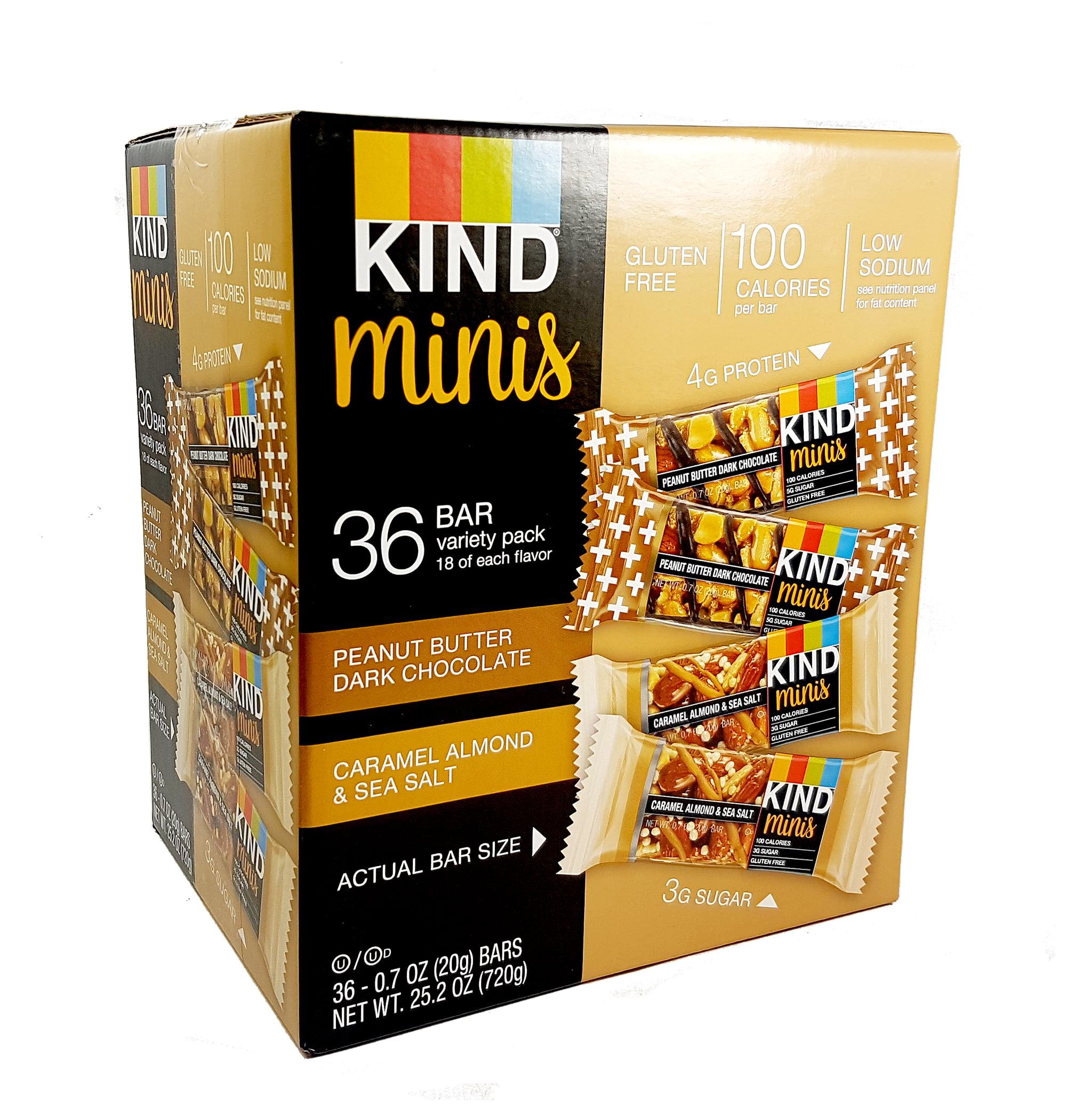 Kind Mini Bars Variety Pack 0 7 Oz 36 Count Walmart Com Walmart Com