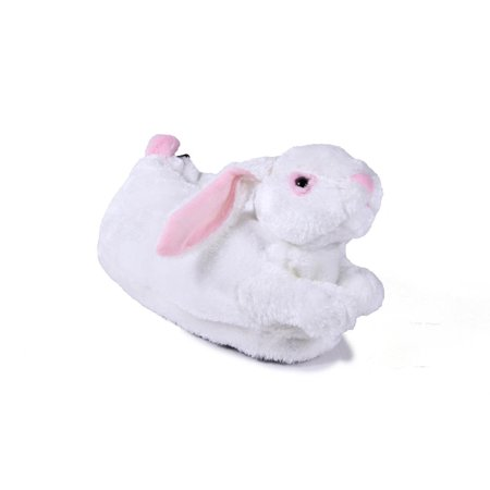 famous brand buy best good selling Comfy Feet - Happy Feet -White Bunny - Animal Slippers - Walmart.com