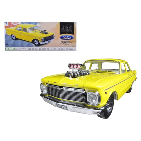 1965 Ford XP Falcon Yellow 50th Anniversary Limited Edition with Engine Blower 1/18 Diecast Model Car by Greenlight - image 1 de 1
