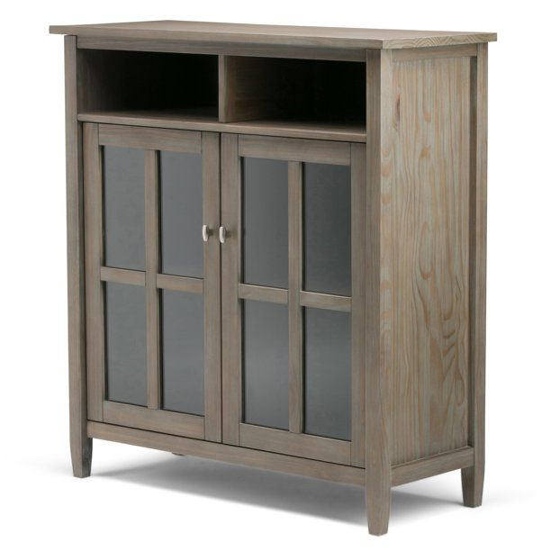 Brooklyn Max Lexington Solid Wood 39 Inch Wide Rustic Medium Storage Media Cabinet In Distressed Grey Walmart Com Walmart Com