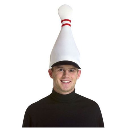 Bowling Pin Hat Adult Halloween Accessory