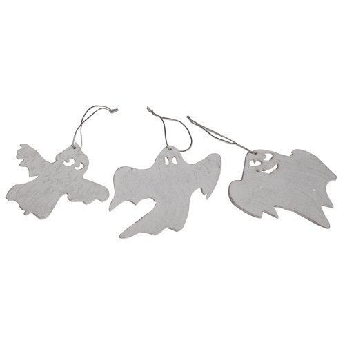 The Holiday Aisle 3 Piece Ghost Ornament Set