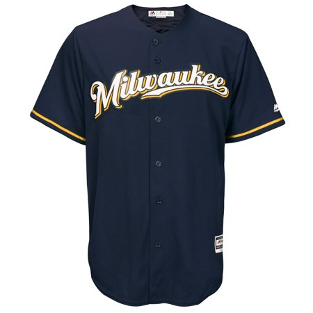 Milwaukee Brewers Jersey - Milwaukee Brewers Majestic Official Cool Base Jersey - Navy -