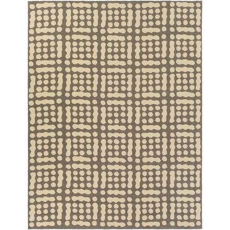 Contemporary Katrina Collection Area Rug in Bone and Oval, Rectangle, Round, Runner Shape