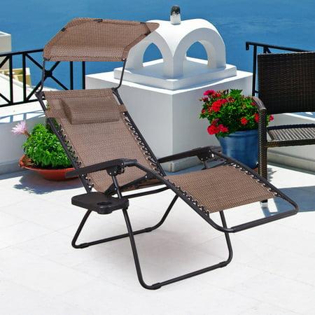 Adeco Trading Reclining Zero Gravity Chair