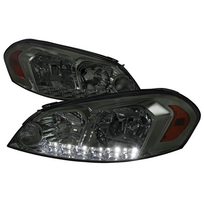 Spec D Tuning 2LH-IPA06G-V2-RS Smoked Euro Headlights for 2006-2013 Chevrolet Impala - image 1 of 1